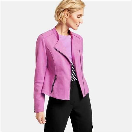Gerry Weber Suede Look Jakcet Pink  - Click to view a larger image