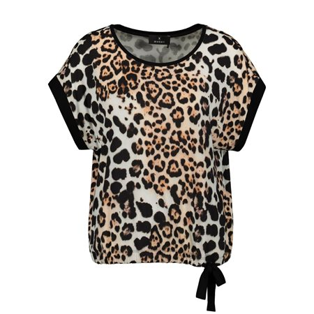 Monari Animal Tie Detail Top Black  - Click to view a larger image