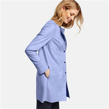 Taifun Faux Suede Jacket Blue  - Click to view a larger image