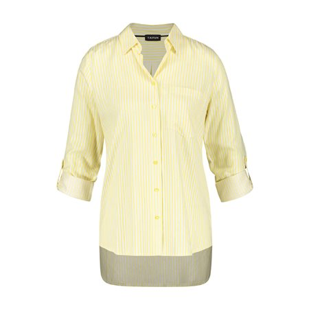 Taifun Striped Shimmer Blouse Yellow  - Click to view a larger image