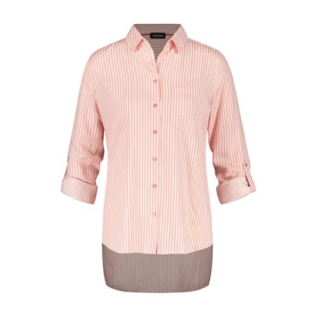 Taifun Striped Shimmer Blouse Pink  - Click to view a larger image
