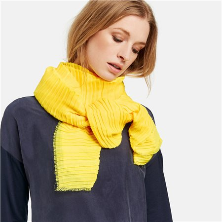 Taifun Pleated Scarf Yellow  - Click to view a larger image