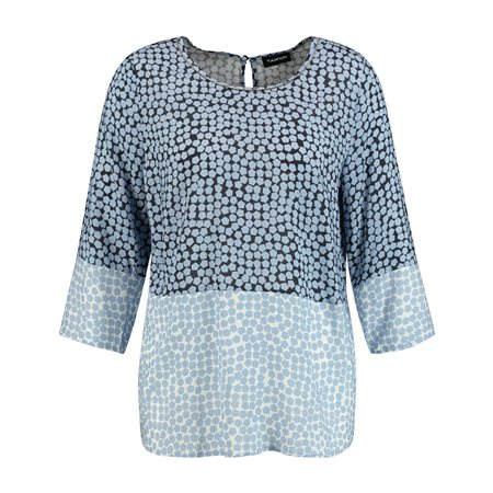 Taifun Two Tone Spot Print Top Blue  - Click to view a larger image