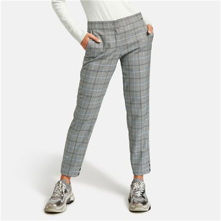 Taifun 7/8 Check Trouser Grey  - Click to view a larger image