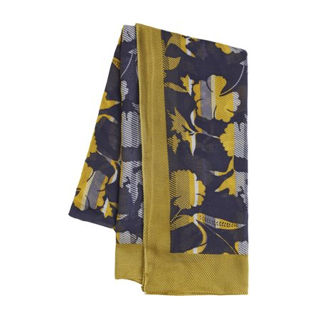 Sandwich Floral Print Scarf Navy  - Click to view a larger image