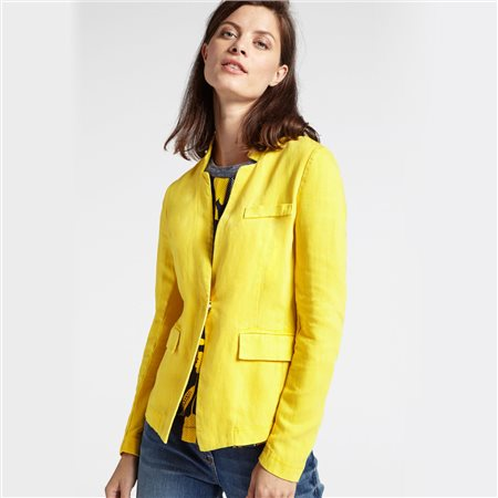 Sandwich Linen Blazer Yellow  - Click to view a larger image