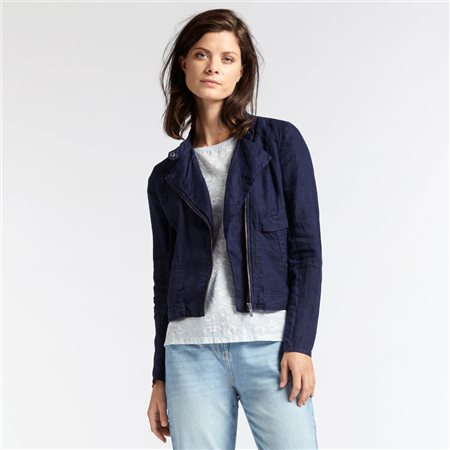 Sandwich Linen Jacket Navy  - Click to view a larger image
