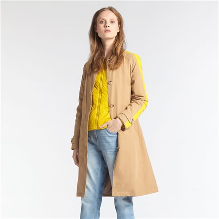Sandwich Trench Coat With Piping Camel  - Click to view a larger image