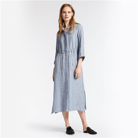 Sandwich Linen Maxi Dress Grey  - Click to view a larger image