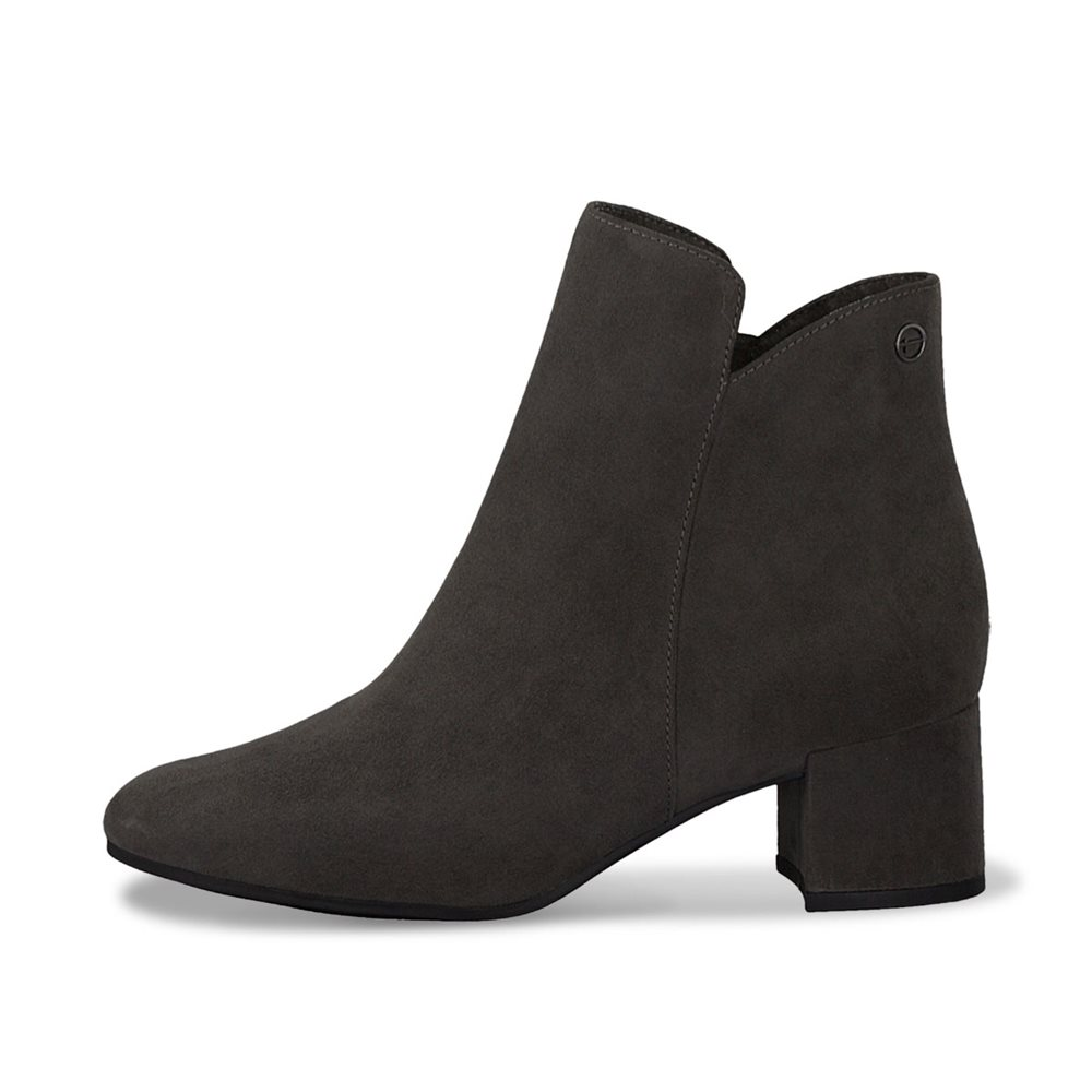 Tamaris Ronda Block Heel Boot Grey 1