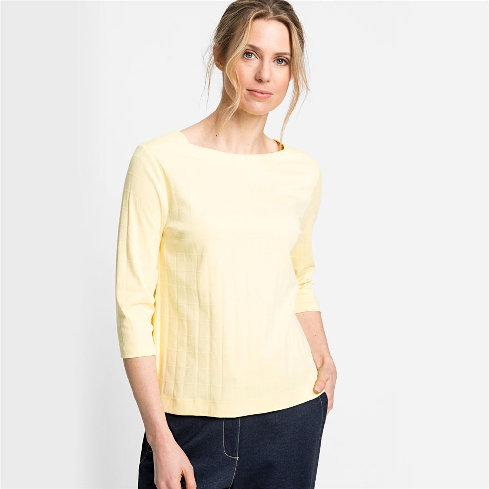 Olsen Square Neck Top Lemon 1